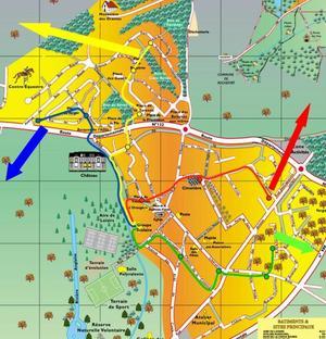 Plan des lignes du bus pédestre