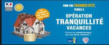 Opération Tranquillité Vacances